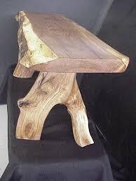 spalted oak bench