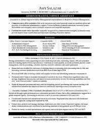 Administrative Support Resume Examples Best Of Office Assistant Resume Examples Fresh Administrative Assistant