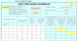Drain Pipe Sizing Chart Hvac Design Solutions Plumbing Design