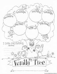 Human Family Tree Chart Coloring Easy Printable Family Tree Chart Amazing Sheet