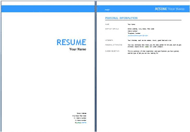 Cover Page Resume Template