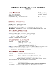 Cover Letter Students Resume Format Students Resume Format Pdf