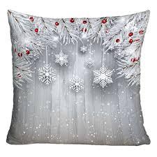Amazing Christmas Throw Pillow Decorative Printed Sofa Case Silver Inch Pillows  Target . Christmas Throw Pillow ...