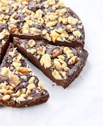 chocolate fudge cake slice. Beautiful Chocolate A Slice Of Vegan Chocolate Fudge Cake Topped With Walnuts To Chocolate Fudge Cake Slice E