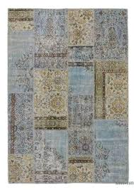 over dyed patchwork rug turkish light blue x 6 rugs the source for authentic ikea furniture