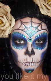 you sugar skull makeup tutorial for special day of the dead in mexico 12half faced 2 youlikeitmy spot 2016 10 easy