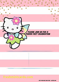 invitation card hello kitty hello kitty birthday invitation template beautiful hello kitty