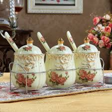 kitchen canisters ceramic home floral ceramic decorative kitchen canisters sets near flower over smal