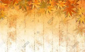 Powerpoint Template Art Fall Leaf Border Background Bdzxbccff
