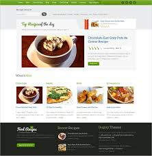 Food Recipe Template 17 Food Recipes Website Themes Templates Free Premium Templates