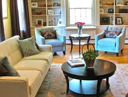how to place an area rug in a small living room
