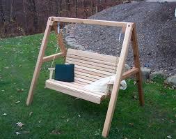 red cedar royal highback porch swing stand