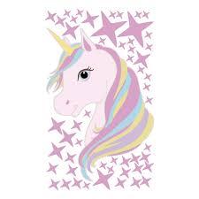 Nástěnná Samolepící Dekorace Na Zeď Do Dětského Pokoje Jednorožec Unicorn