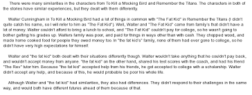 similarities in the characters from to kill a mocking bird and  essay on similarities in the characters from to kill a mocking bird and remember the titans