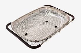 livefresh over the sink micro perforated stainless steel 4 quart colander