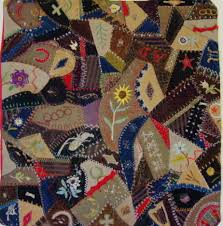 Dated and Signed 1887 Crazy Crib Quilt Sold | Cindy Rennels ... & Antique Crazy Crib Quilt -full view Adamdwight.com