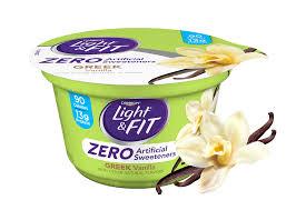 vanilla greek nonfat yogurt with zero artificial sweeteners
