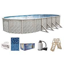 oval above ground pool sizes. Exellent Sizes Meadows Oval AboveGround Swimming Pools  Full StartUp Kit Choose Size On Above Ground Pool Sizes S