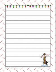 Christmas Writing Paper Template Free Christmas Writing Paper Template Free