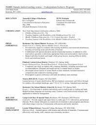 Ideas Of Resume For Undergraduate College Student Sample Beautiful