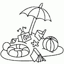 summer pictures to colour. Delighful Pictures Summer Beach Coloring Pages Intended Pictures To Colour