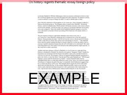 us history regents thematic essay foreign policy college paper  us history regents thematic essay foreign policy dissertation research questions teaching position english essay our