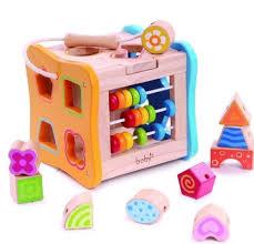 wooden shape sorter toy 21 Gift Ideas for 2 Year Old Girls | Star Walk Kids