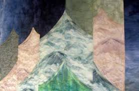 Quilt Album Homepage for Lyn Durbin & Link to Detail Web Page Glacier Mtns quilt Adamdwight.com
