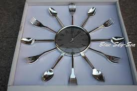 image of large spoon and fork wall art