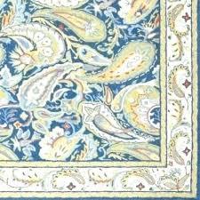 area rugs wool hooked hand square blue cream leaf pattern vintage rug furniture tulsa cleaners ok fabulous used
