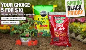 home depot spring black friday great deals on mulch and miracle gro soil