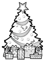 Coloring Pages Christmas Tree Coloring Sheet Page Free Printable