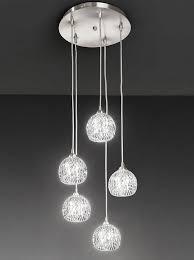 fl2301 5 tierney 5 light pendant satin nickel and cut glass