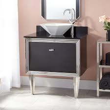 mariano stainless steel wallmount vessel sink vanity  black
