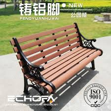 china very lounge chair garden flower benches cast iron feet garden bench solid wood