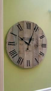 unique wall clocks large clock wedding gift keepsake reclaimed wood pallet farmhouse decor anniversary for kitchen india