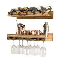 Small wine racks Wall Image Unavailable Amazoncom Amazoncom Rustic Luxe Small Tiered Wine Rack set Of 2 2 Ft