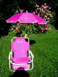 personalized beach chairs. Personalized Beach Chair \u0026 Umbrella For Kids Chairs