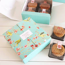 Decorative Cookie Boxes Free shipping blue flower birds decoration bakery package dessert 77