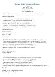 Ultrasound Resume Sample Sample Cardiac Sonographer Resume resame Pinterest 2