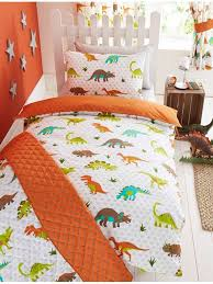 prehistoric dinosaur double duvet cover and pillowcase set kids bedding set