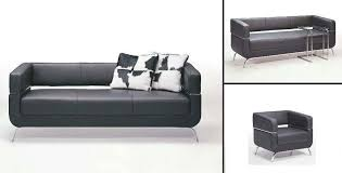 office sofa set. Innovative Contemporary Black Leather Sofa F51 Set Design Co Office