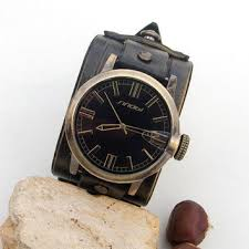 best black leather cuff watch products on wanelo mens leather watch retro bronze leather wrist watch leather cuff watch black dial