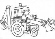 Small Picture Bob The Builder Is Holding A Wood coloring page Free Printable