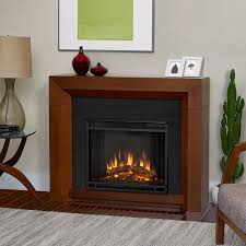real flame hughes vintage black maple electric fireplace