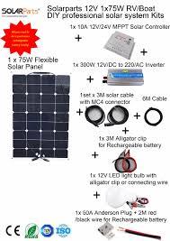 online buy whole 75w solar panel from 75w solar panel solarparts 1x75w professional diy rv boat kits solar system 1 x75w flexible solar panel mppt