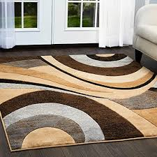 home dynamix tribeca slade area rug contemporary living room rug bold abstract design warm inviting feel brown gray 5 2 x 7 2