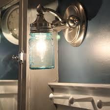 mason jar wall sconce light diy