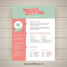 Cute Resume Templates Delectable Cute Resume Template Vector Free Download