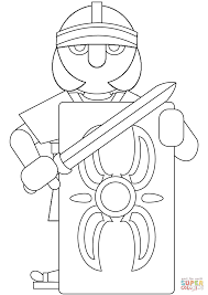 Italiaanse Gladiator Kleurplaat Gratis Kleurplaten Printen